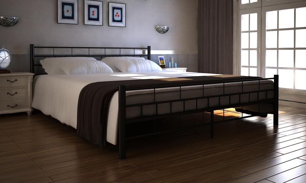 """Kovová postel """"MALTA"""" 180x200 včetně roštu+ kvalitní matrace"""