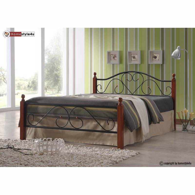 Kovová postel 140x200cm včetně roštu mod815 + matrace