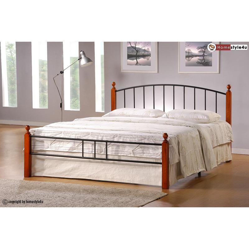Kovová postel 140x200cm včetně roštu mod915 + matrace