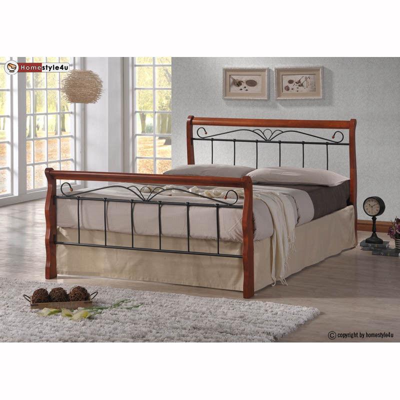 Kovová postel 140x200cm včetně roštu mod1008 + matrace