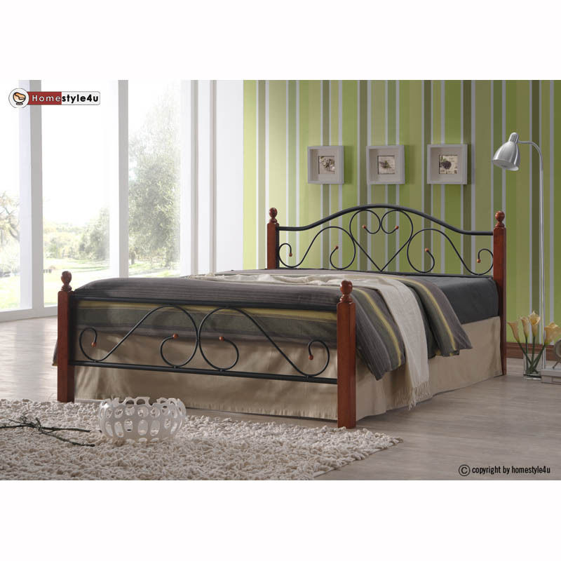 Kovová postel 160x200cm včetně roštu mod815