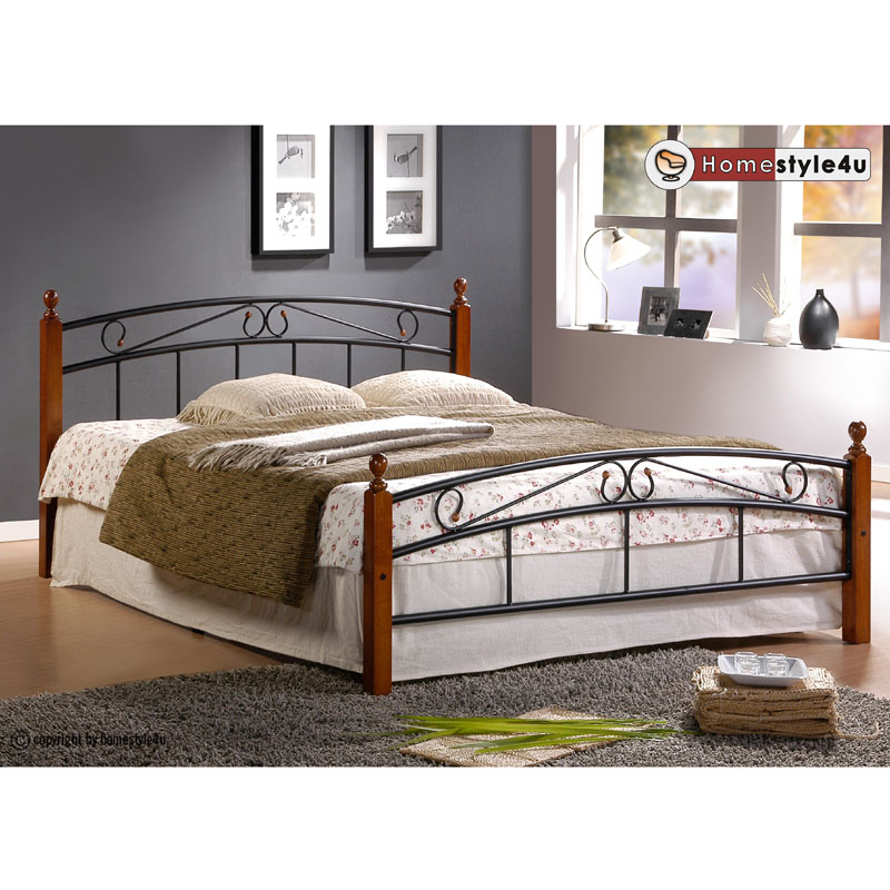 Kovová postel 160x200cm včetně roštu mod8077 + matrace