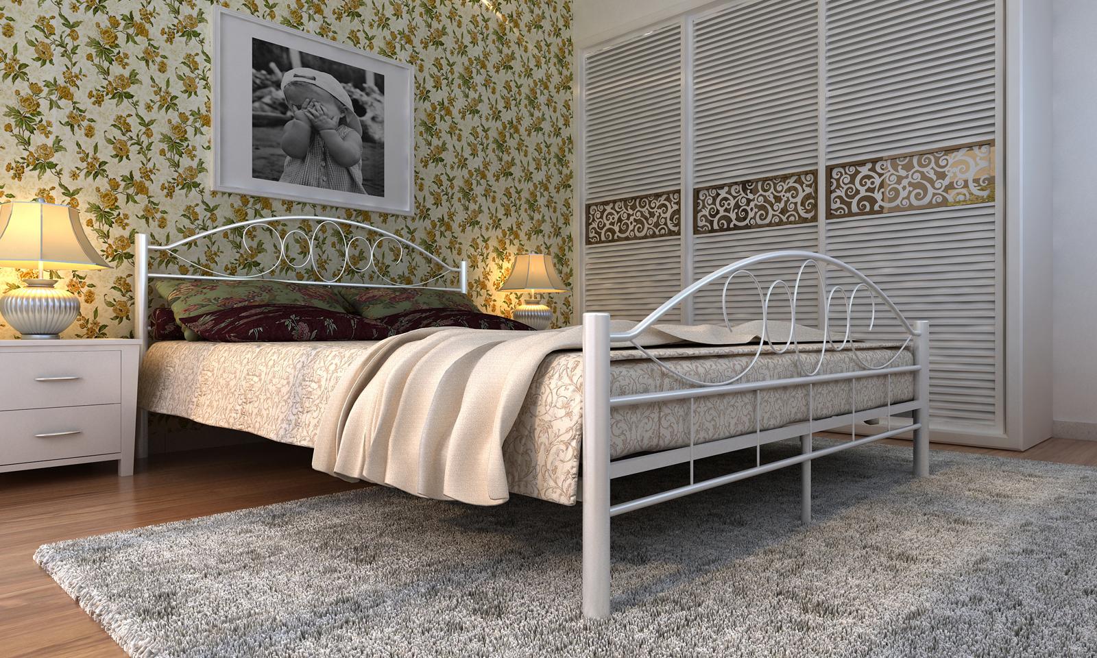 Kovová postel 140x200 včetně roštu 60693
