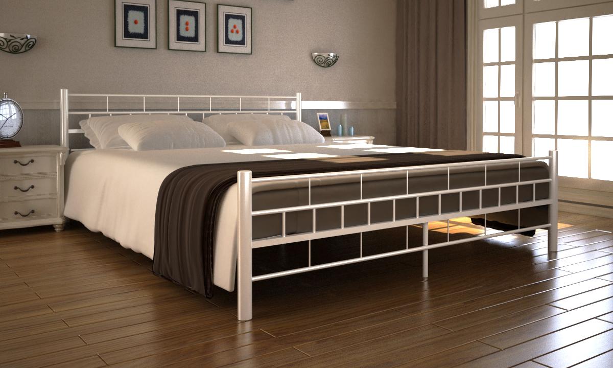 Kovová postel 140x200 včetně roštu 60691