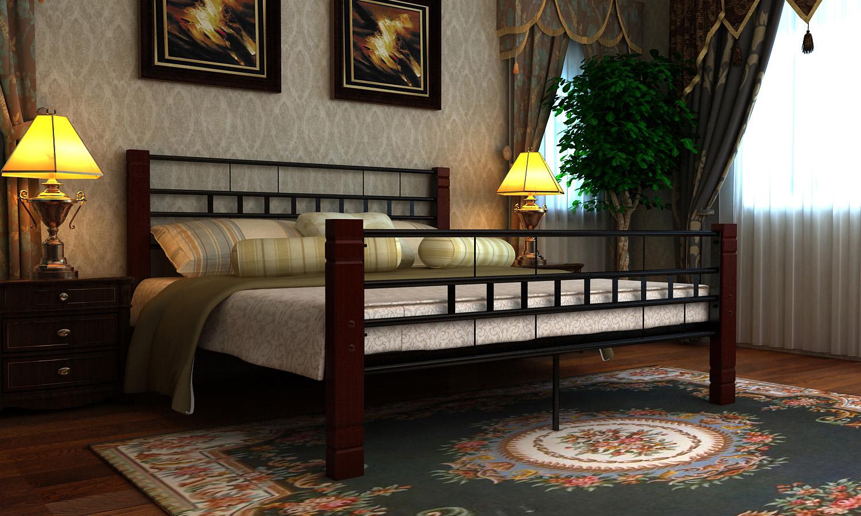 Kovová postel 180x200 včetně roštu 60688 + kvalitní matrace