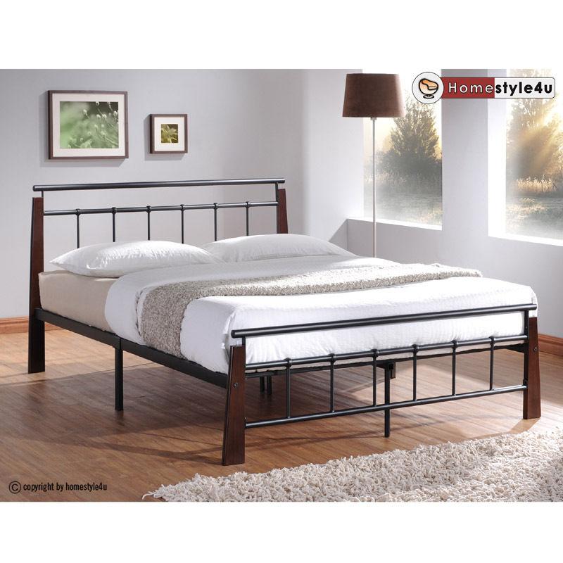 Kovová postel 140x200cm včetně roštu mod5072