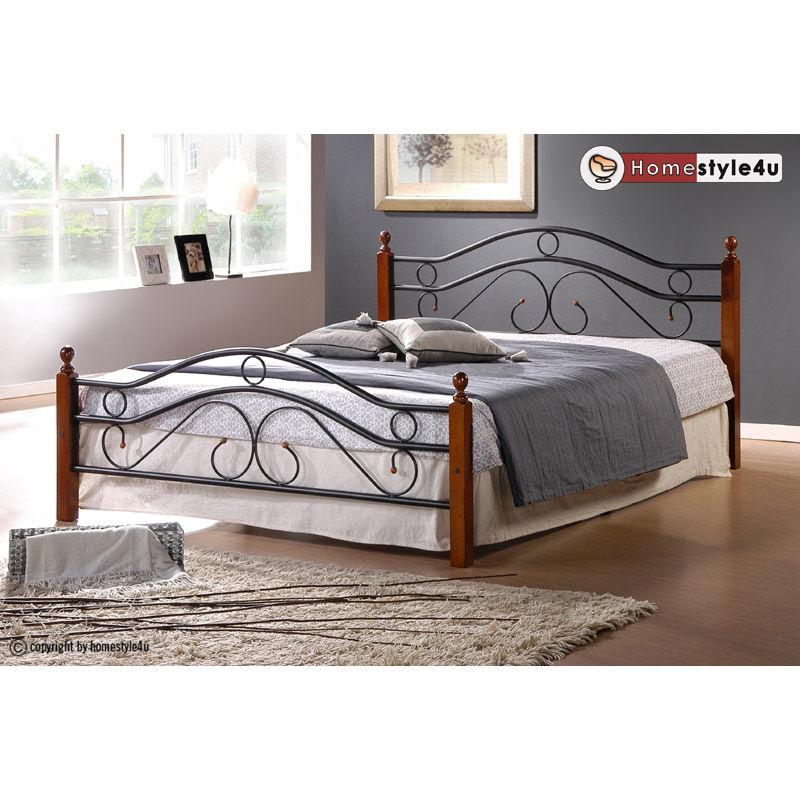 Kovová postel 140x200cm včetně roštu mod803