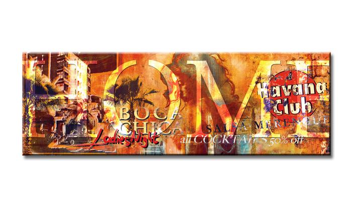 Dekorační obraz 120x40cm - 1 díl - 5719 - Havana club
