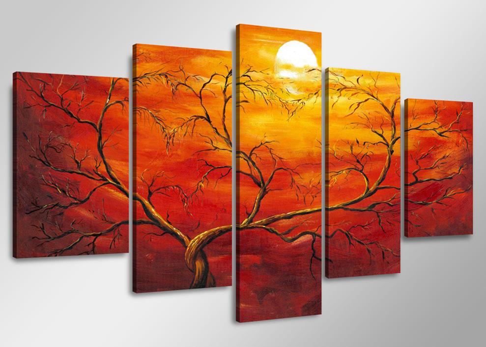 Dekorační obraz 160x80cm - 5 dílů - 5506 - abstrakt