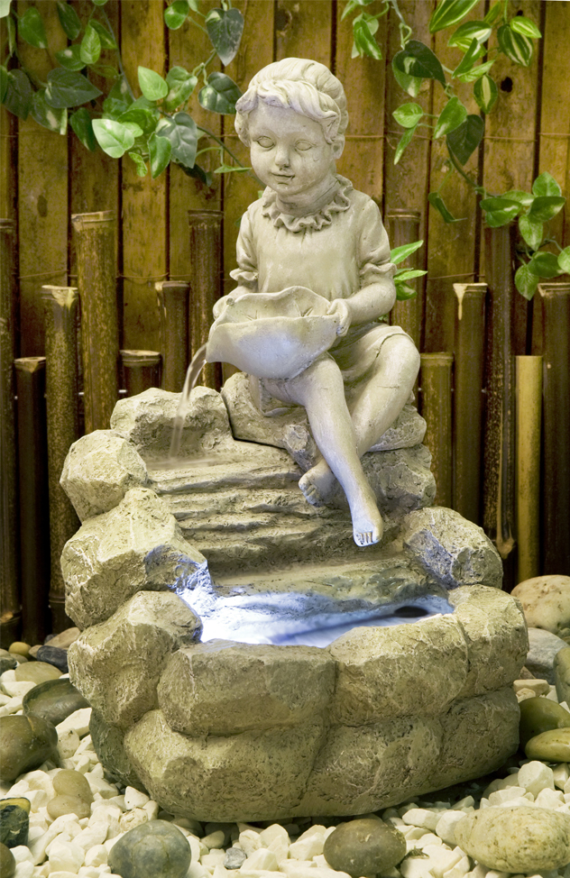 Luxusní kašna / fontána - děvče 42cm