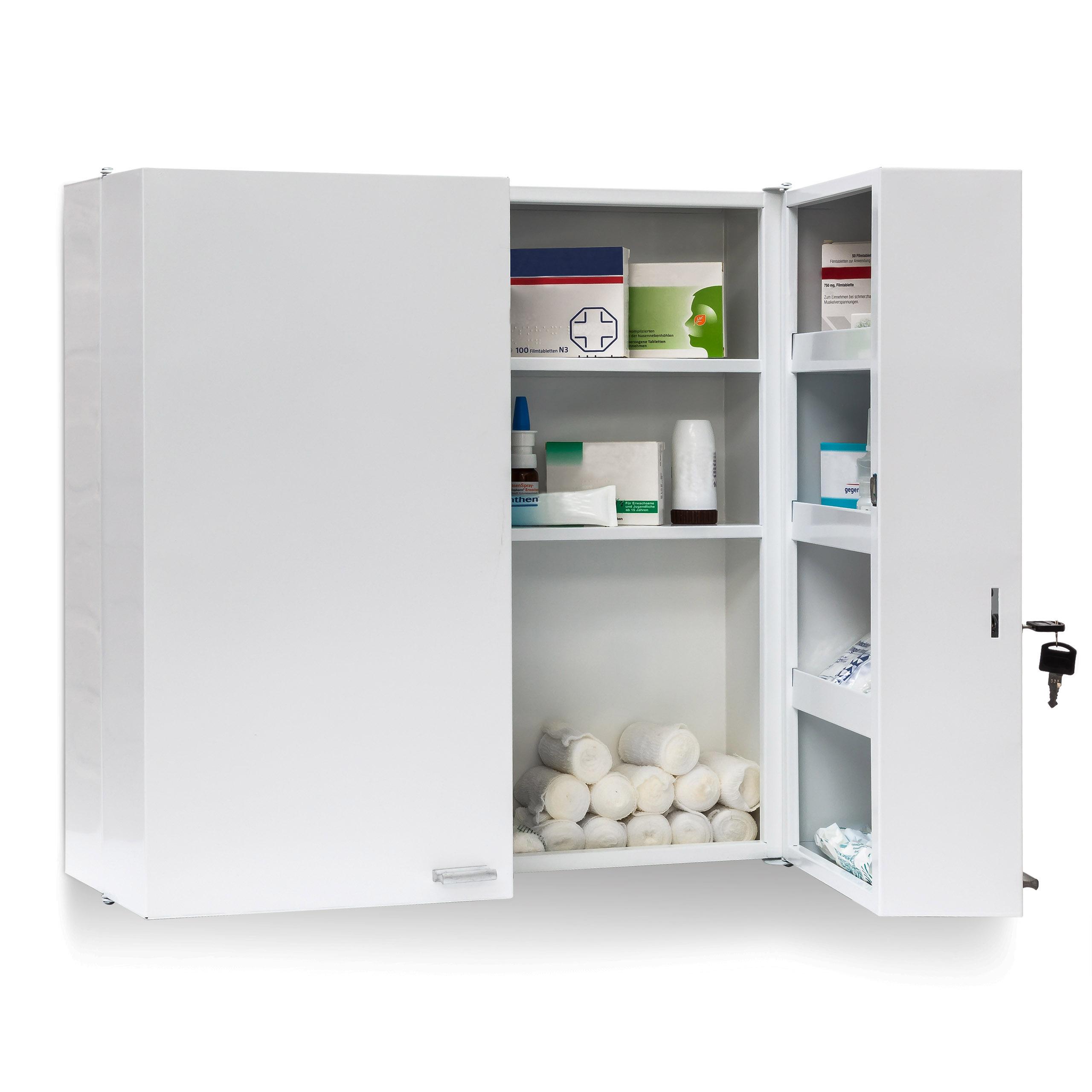Skřínka na léky XXL 53x53x20cm bílá emergency