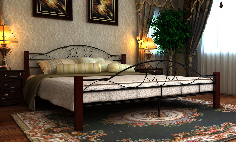 Kovová postel 140x200 včetně roštu 60689